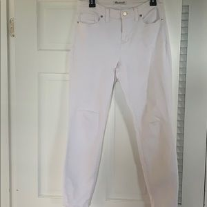 Madewell white skinny jeans